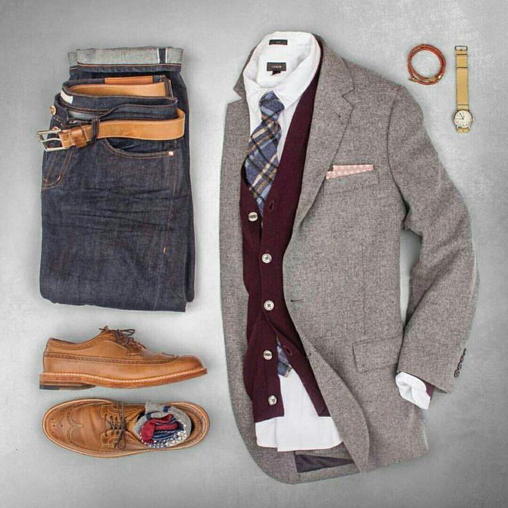 Outfit grid - Stylish layers ...repinned vom GentlemanClub viele tolle Pins rund um das Thema Menswear- schauen Sie auch mal im Blog vorbei www.thegentemanclub.de