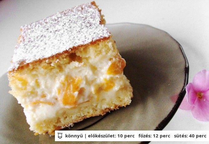 Barackos-tejfölös sütemény