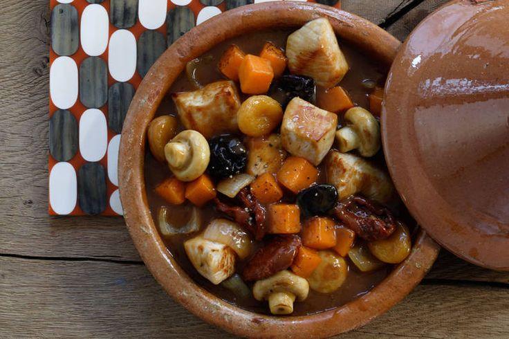 Das Rezept für Putengulasch mit Kürbis mit allen nötigen Zutaten und der einfachsten Zubereitung - gesund kochen mit FIT FOR FUN