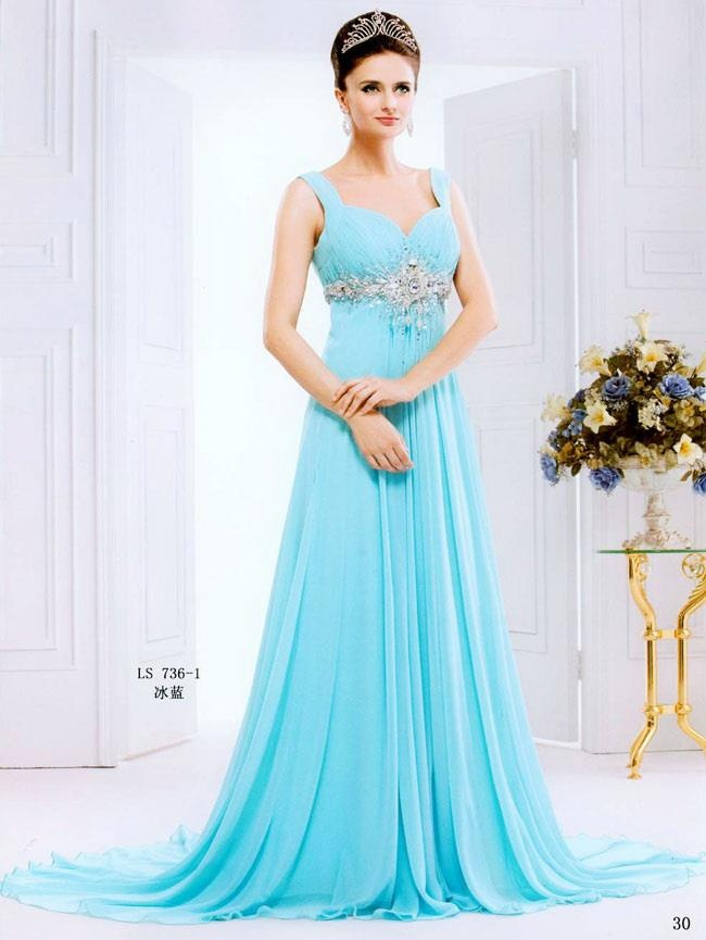 Simple Blue Wedding Dresses | Wedding Gallery