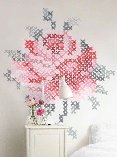 How to make cross-stitch wall art #diy #crafts