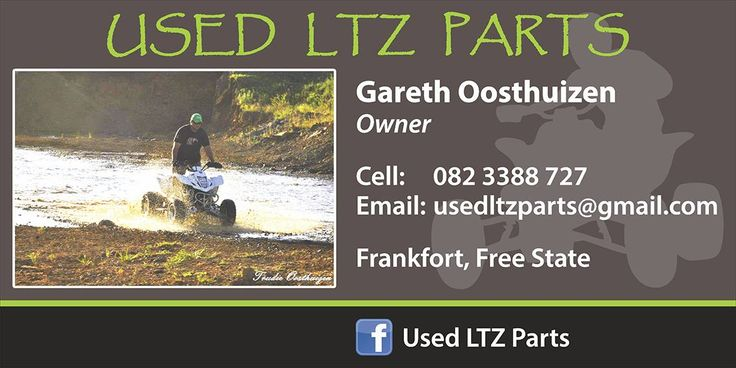 Suzuki LTZ Used Parts available   Stock secondhand parts of:  Suzuki LTZ400 & LTZ250 Honda TRX400 & TRX300 Polaris Predator 500 Linhai Rustler 260 & 300 Arctic Cat DVX400 Yamaha Blaster 200 Kawasaki KFX400  We can help with prices on new parts as well.   GREAT prices, FAST Service & HAPPY Clients!   Located Frankfort Free State   Come join our Facebook - Used LTZ Parts