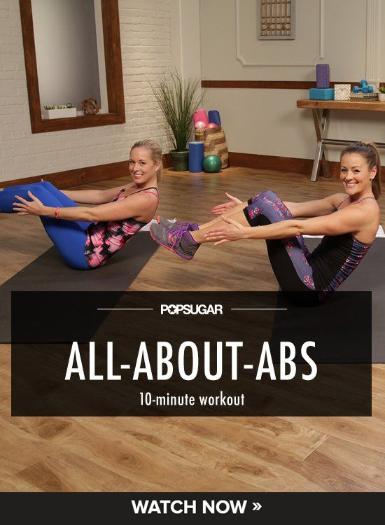 Pin for Later: Carve Your Core! 10 Workouts All About Your Abs The Ultimate Ab Workout to Feel Good Naked This 10-minute workout uses a couple of hand towels for a superslippery workout that targets your core like no other.