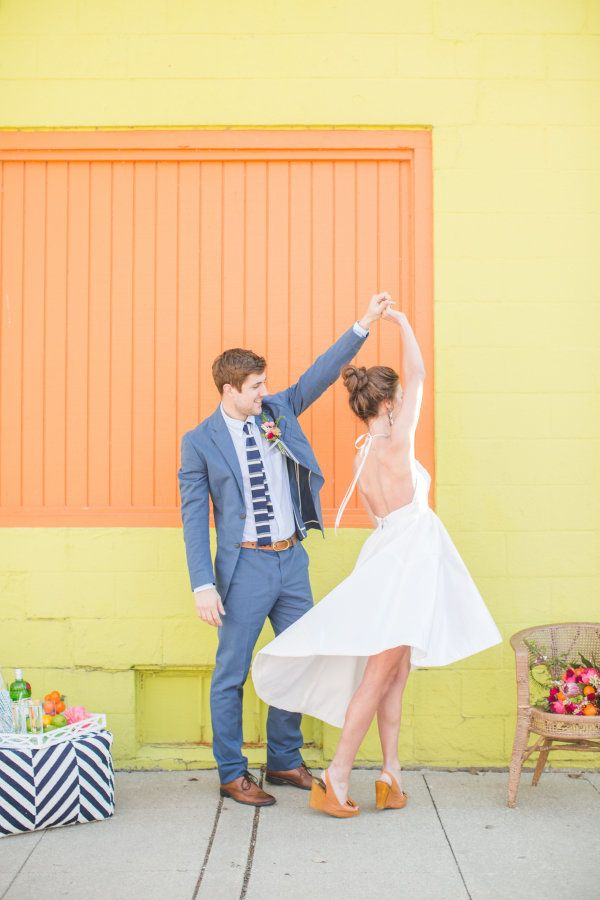 As a born and raised Iowa girl, I have to give a shout out to these amazing Des Moines vendors, Aly Carroll, Shelly Sarver, Ephemera Design and so many more. They're the creative geniuses behind this Palm Spring-inspired elopement shoot, and I, for one,