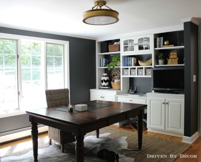 grey walls with dark brown furniture, Favorite Black and Charcoal Gray Paint Colors Driven by