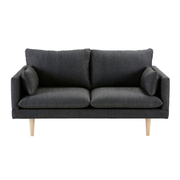 canap 2 places gris anthracite maisons du monde furniture design maison du monde canap
