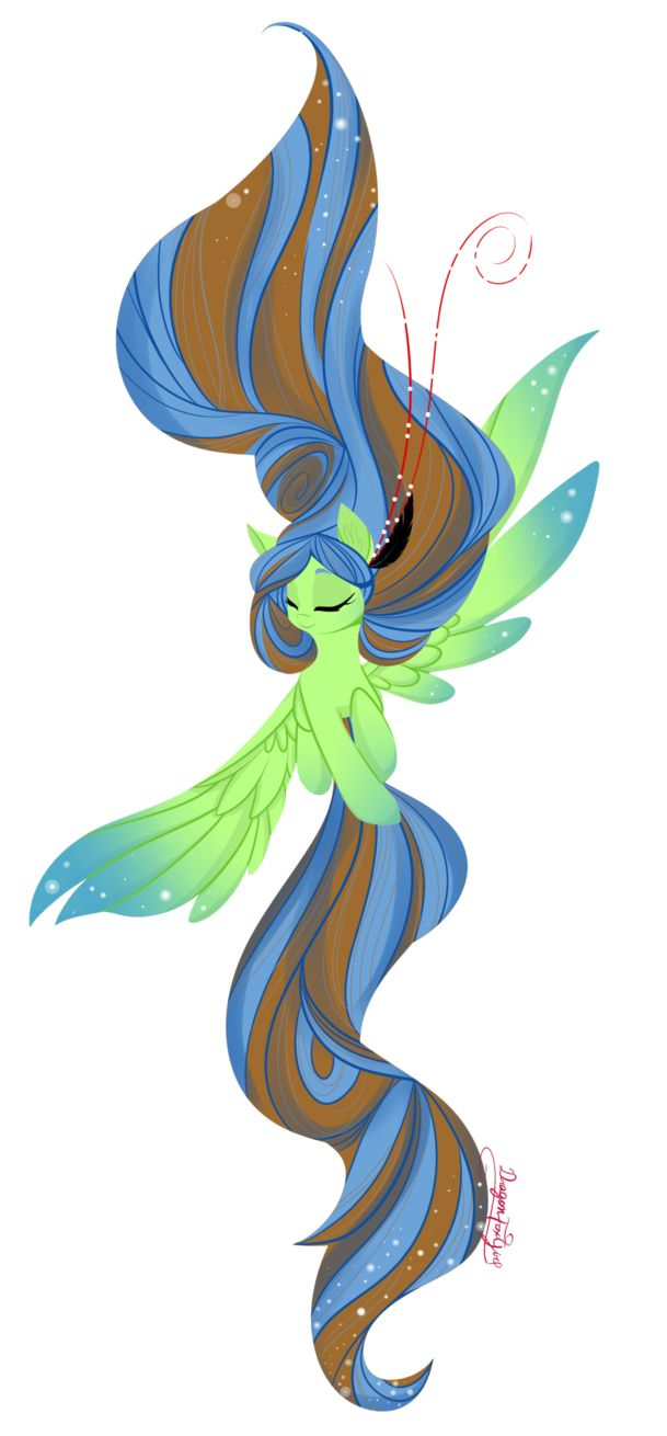 Feathered heart- female-open-leader- smart, quiet, friendly and happy female pegasus. Sister- Midnight Dusk