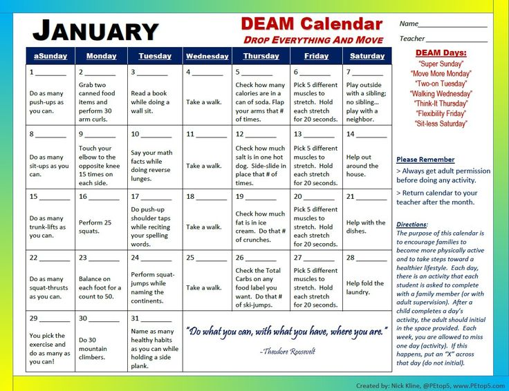 440 best PE images on Pinterest Activities, Games and Exercise - activity calendar