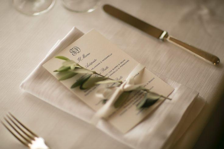 Rosemary tied at the napkin