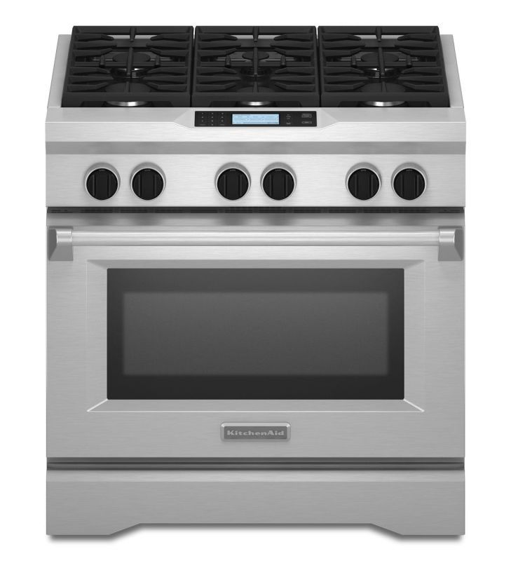 Superb KitchenAid KDRU767V 36 Inch Wide 5.1 Cu. Ft. Dual Fuel Commercial Style  Freestan Stainless