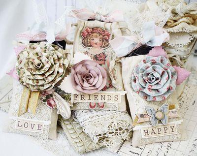 Shabby Gift Bags - Melissa Phillips