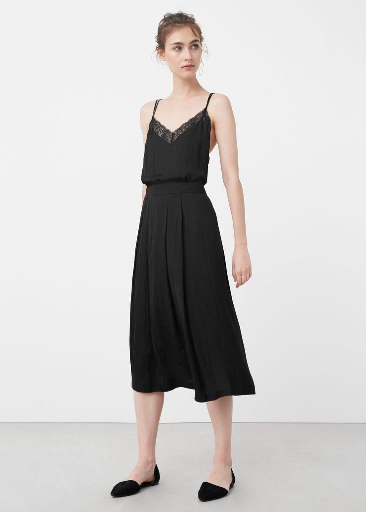 Струящаяся юбка - Юбки  - Женская | MANGO МАНГО Россия (Российская Федерация)