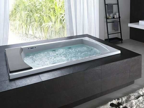 modernes Badezimmer Whirlpool Stein | Wellness & Spa in 2019 ...