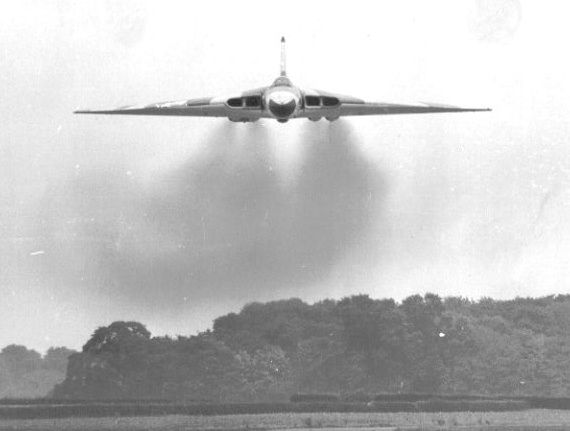 This features Avro Vulcan Mk 1A XH480, again of 101 Sqn, conducting an 'attack' against Waddington's Air Traffic Control Tower. I had the Daily Mirror's Air Correspondent aboard to convince him that the Vulcan's new low level role (post Gary Powers' U2 shoot-down) was viable. [Eric Macey]  Sadly it's last flight is tomorrow 28th June...over various airfields. Flying over my house on approach to Norwich. But I'm working in damn Ely... gutted.