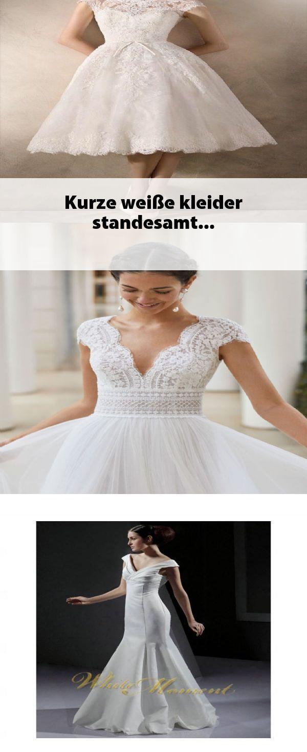 Kurze weiße kleider standesamt #weißekleiderkurz Kurze weiße