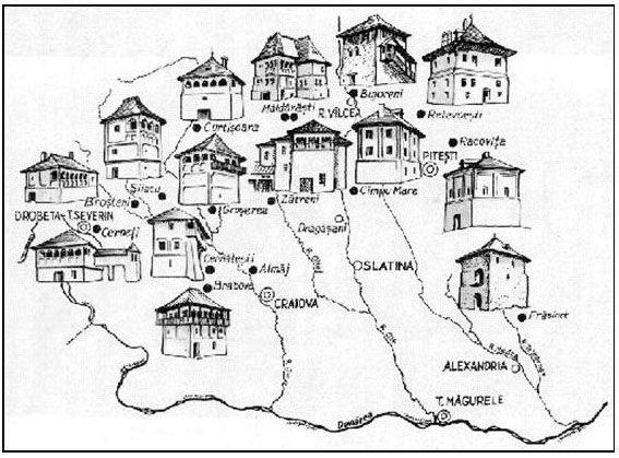 Harta cule din Oltenia