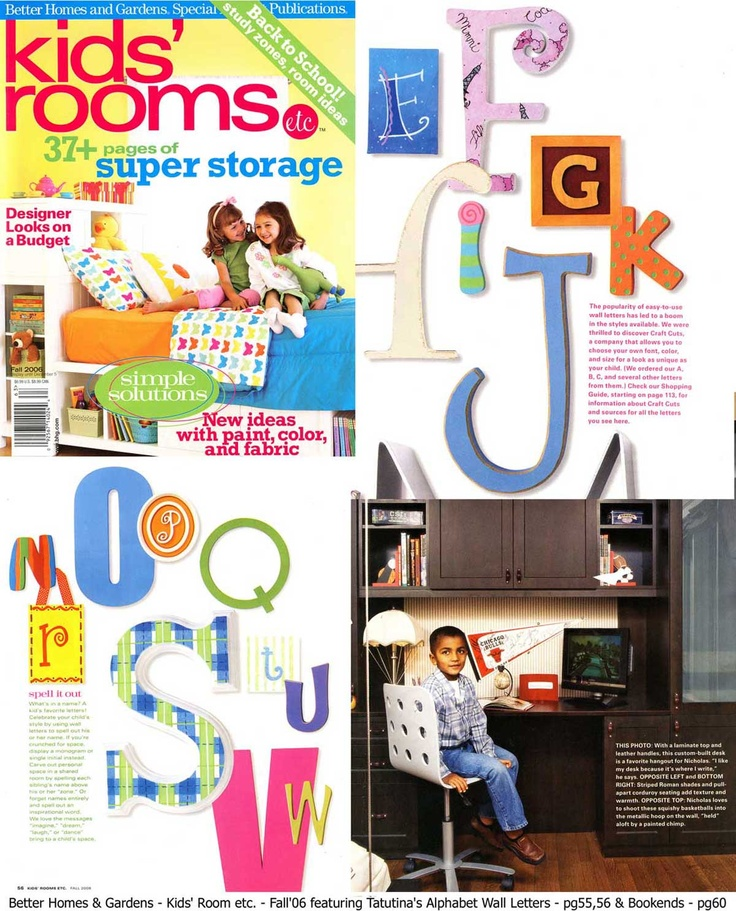 17 best images about letters on pinterest alphabet for Letters for kids rooms