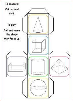 FREE 3D SHAPE TRIVIA CUBES WITH WORKSHEET - TeachersPayTeachers.com
