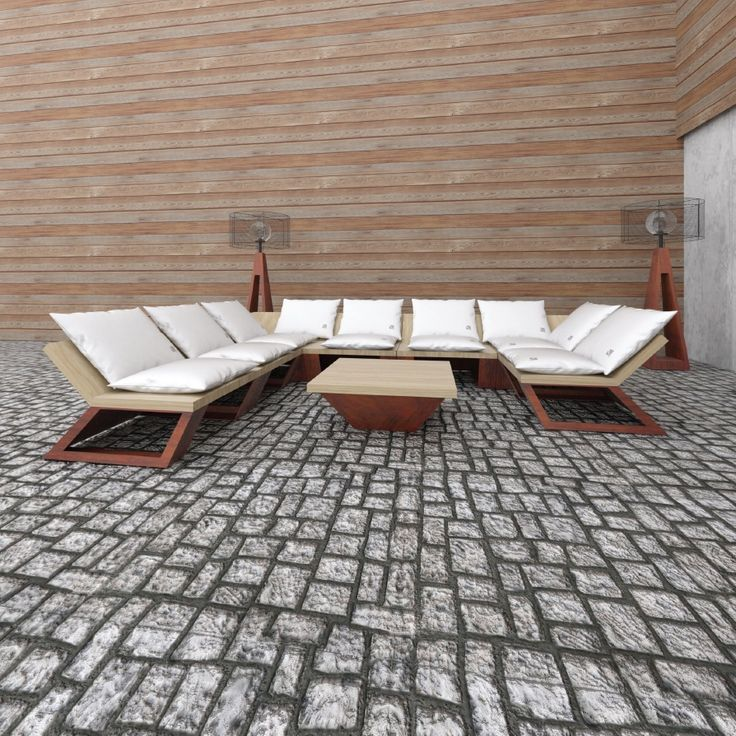 Modular Lounge  Low level, relaxed seating. The modularity of the set allows to make different configurations.