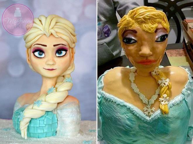 Les pires gâteaux d'anniversaire : Elsa, la Reine des Neiges de Disney