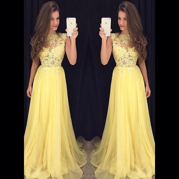 Fashion Yellow Lace Evening Dresses Long Prom Dresses Plus Size Robe De Bal Photocall Red Prom Formal Gowns A Line Custom Made