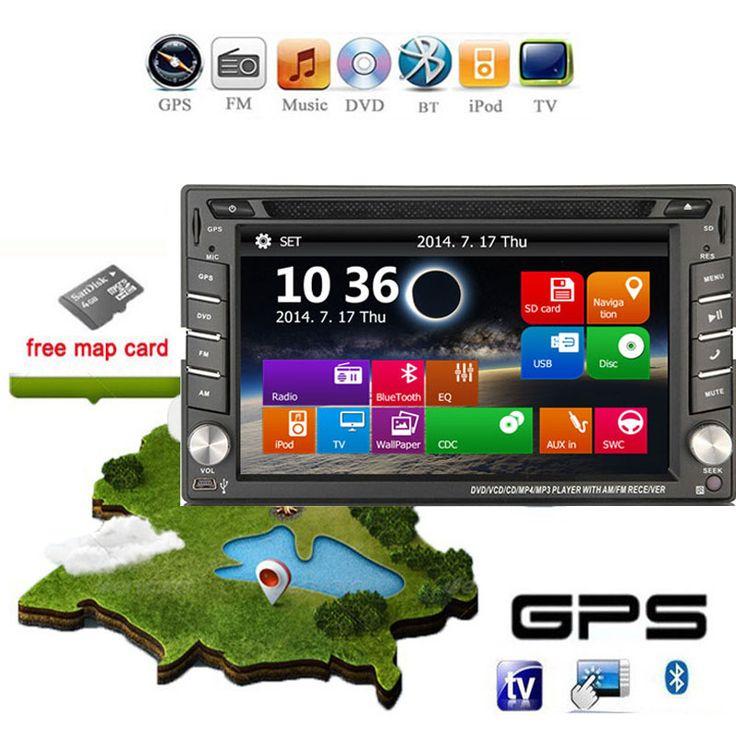 "Universal 2 Din 7"" In Dash Car DVD Player GPS/ Radio/FM/USB/SD/Bluetooth/TV HD Digital Touch Screen Full Popular Function Free US $169.00 - http://btspeakers.space/universal-2-din-7-in-dash-car-dvd-player-gps-radiofmusbsdbluetoothtv-hd-digital-touch-screen-full-popular-function-free-us-169-00/"