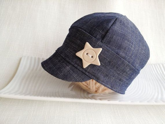 Baby Jeans Cap Newborn to XL child cap Photo by SquishyBabyStuff, $23.00