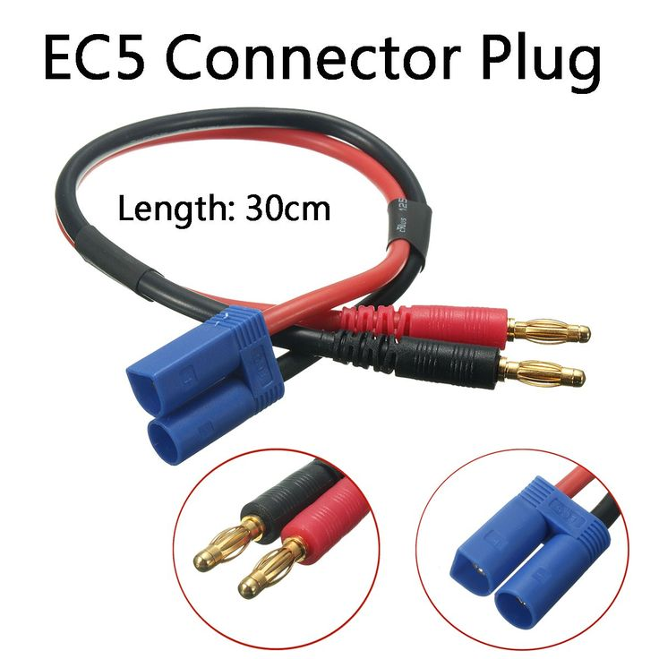 New Arrival 1PC EC5 Male 30CM 4MM Banana Connector Plug Adapter Lead Battery Charge Cable Lipo 12#