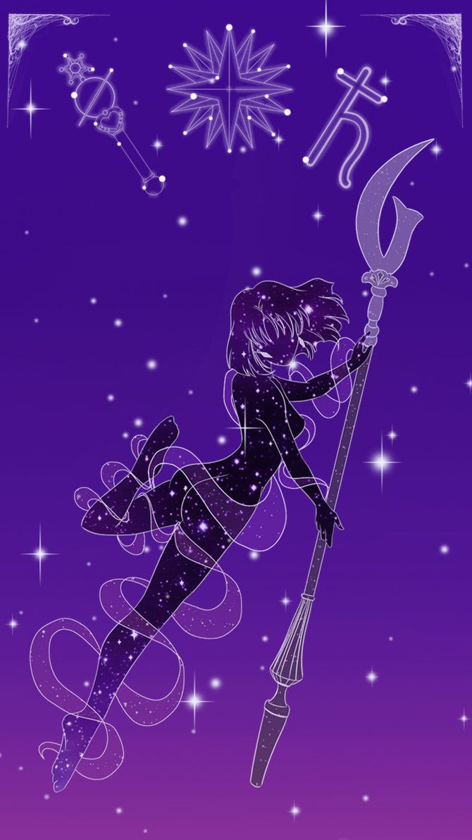 Sailor Saturn Lockscreen by SMeadows.deviantart.com on @DeviantArt