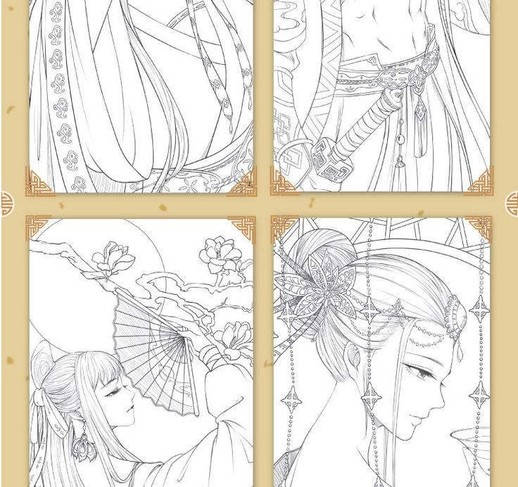 2 Книги китайский книжка раскраска линия эскиз Учебник ...