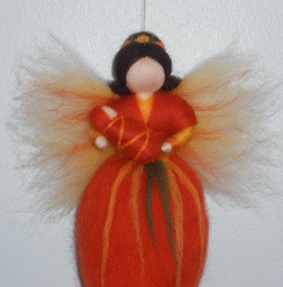 needle felted fairy with baby