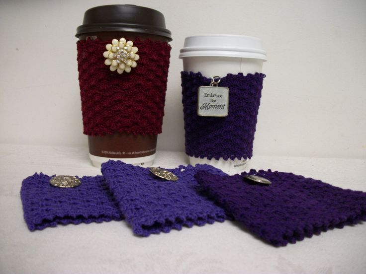 Coffee sleeves by Funkydeb on Etsy