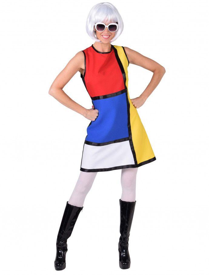 Kleid Pop Art Damen Bunt Fur Karneval Fasching Deiters Popart