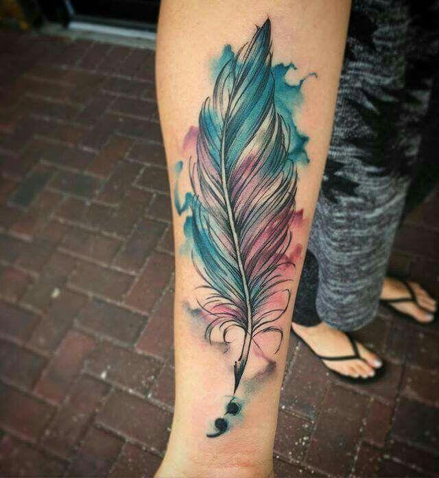 20 Semi Colon Watercolor Tattoos Phoenix Ideas And Designs