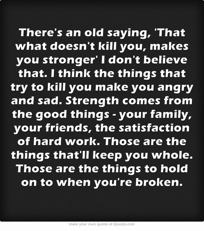 A different way to look at strength...