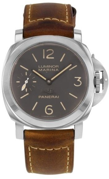 Panerai Luminor Marina PAM00411 Stainless Steel / Leather Manual 44mm Mens Watch