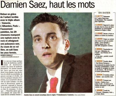 """Article presse """"Nord Eclair"""" - ...:::SAEZ:::... A ton sourire qui me tue..."""