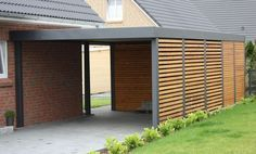partially enclosed carport, wood, attached - Google Search