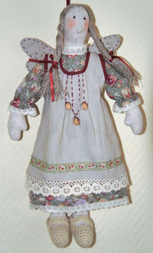 Кукла текстильная ручная работа Тильда   Домашняя фея  Fiva
