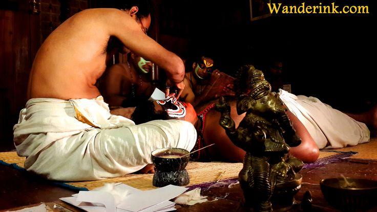 Pacha, kathi, kari...the makeup before a Kathakali recital is an art in itself.