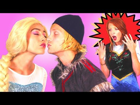 Are Frozen Elsa & Kristoff KISSING? w/ Spiderman Pink Spidergirl Bad Baby Hulk Anna Rapunzel Mermaid - YouTube