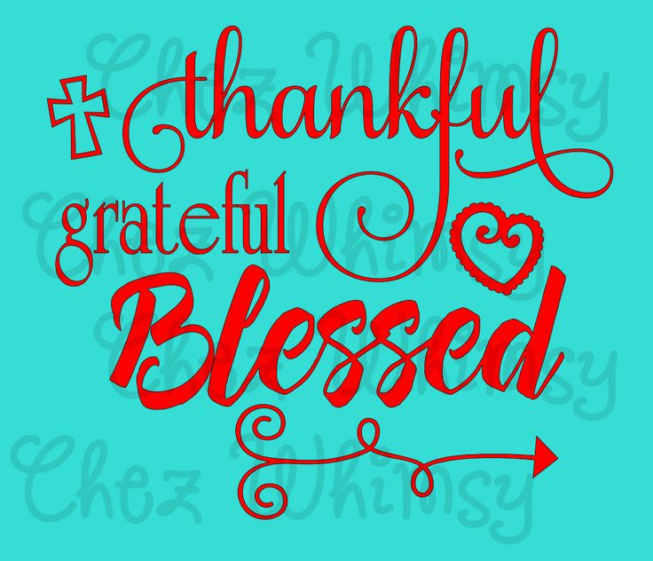 Thankful Grateful Blessed SVG, Cross SVG, Thankful Shirt ...