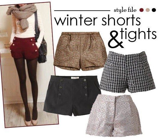 Style File: Winter Shorts and Tights. I feel like this look can actually look decent, depends on the whole overall look though