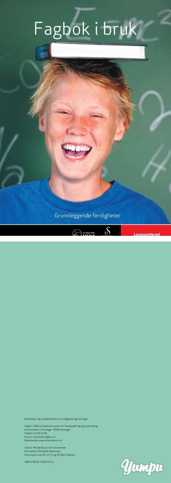 Fagbok i bruk - Lesesenteret - Universitetet i Stavanger - Magazine with 68 pages: Fagbok i bruk - Lesesenteret - Universitetet i Stavanger