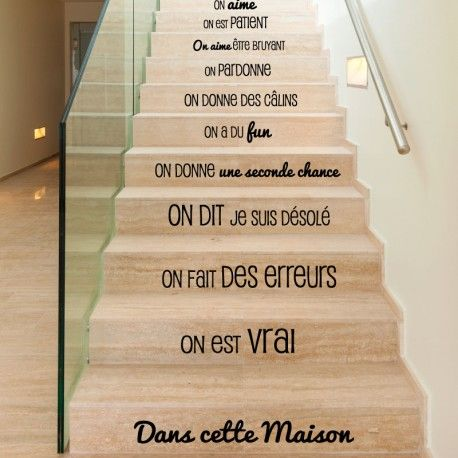 Sticker Dans cette maison design pas cher - Stickers Citations discount - stickers muraux - madeco-stickers