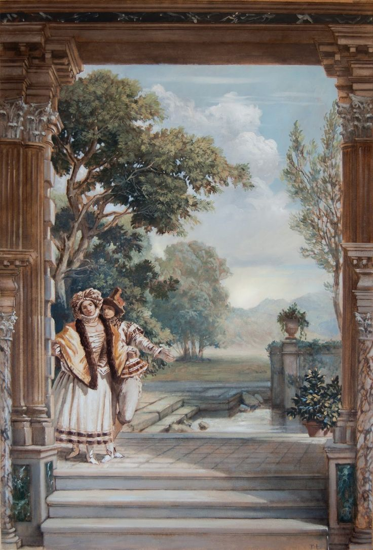 859 best images on pinterest wall murals mural ideas the ornamentalist pascal amblard preparing for the grand venetian mural intensive