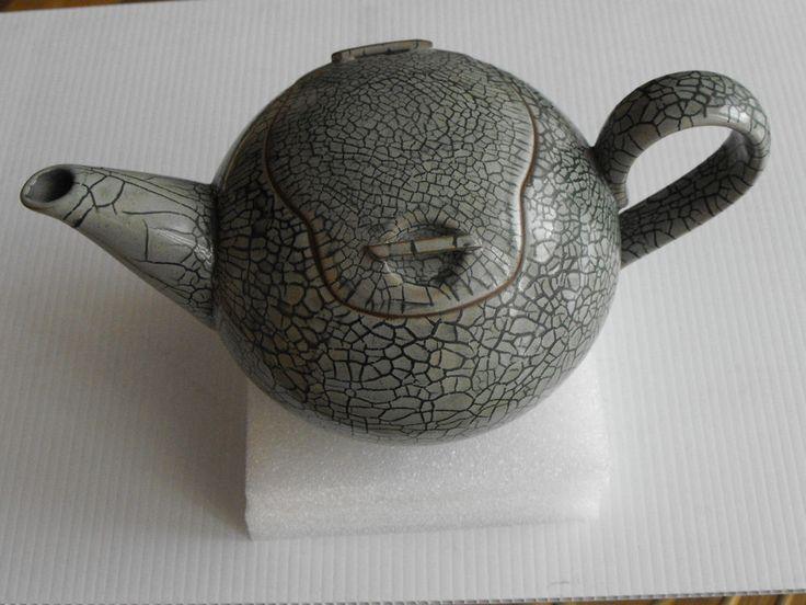 Teekanne Craquele Glasur Raku Glasur grün - Monogramm auf dem Stand in Antiquitäten & Kunst, Porzellan & Keramik, Keramik | eBay!
