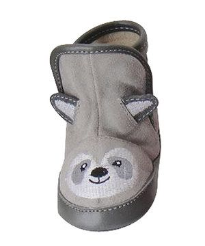 Look at this #zulilyfind! Piccolo Bambino Gray Suede Raccoon Moosy Bootie by Piccolo Bambino #zulilyfinds