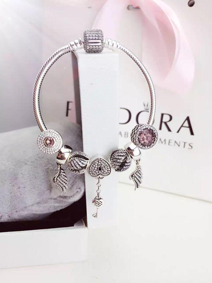 Tendance Bracelets  50% OFF!!! $199 Pandora Charm Bracelet Pink. Hot Sale!!! SKU: CB01712  PANDORA