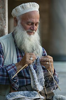 SuperStock - Turquie, Istanbul, Old man knitting